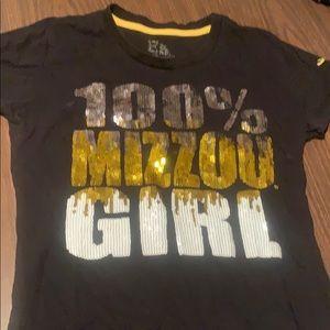 Black Mizzou t-shirt